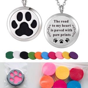 Paw Aroma Therapy Essential Oil Diffuser Necklace